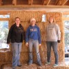 Bldg 1: straw bale raising workparty with Girl Scouts