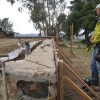 forming on the existing foundation