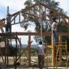 rolling up the trusses