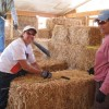 tying a custom sized bale