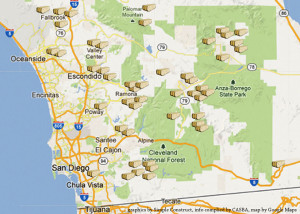 As of 2013, there are 48 permitted straw bale buildings in San Diego County that we know of.