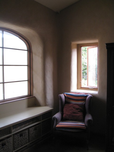 Thick walls create beautiful spaces and great insulation.