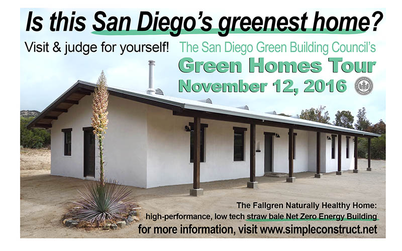 San Diego's Greenest Home, straw bale home on USGBC's Green Homes Tour