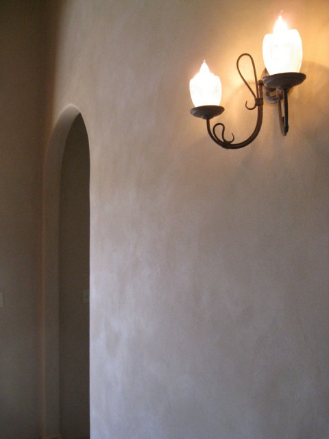 Subtle, suede finish on a clay plastered wall.